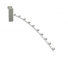 Кронштейн на экономпанель изогнутый с 10 шарами хромированный 400мм