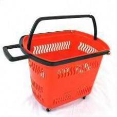Корзина-тележка покупательская пластиковая 30л