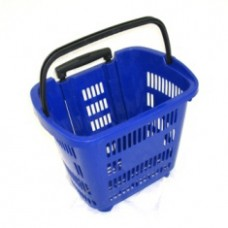 Корзина-тележка покупательская пластиковая 34л